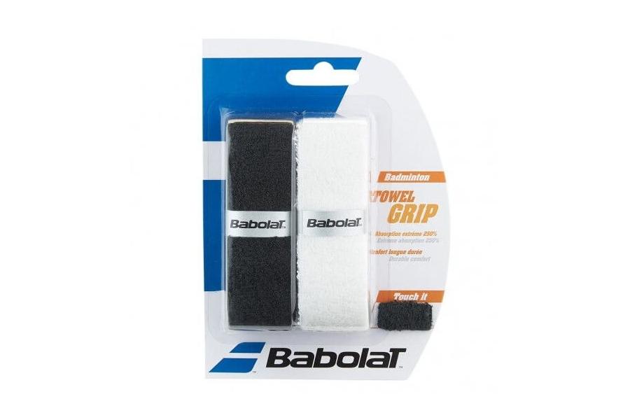 Намотка махровая для бадминтона Babolat Towel Grip 2 штуки